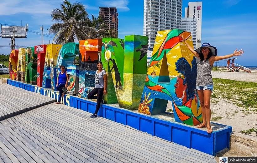 Letreiro - Roteiro de 4 dias em Cartagena, Colômbia