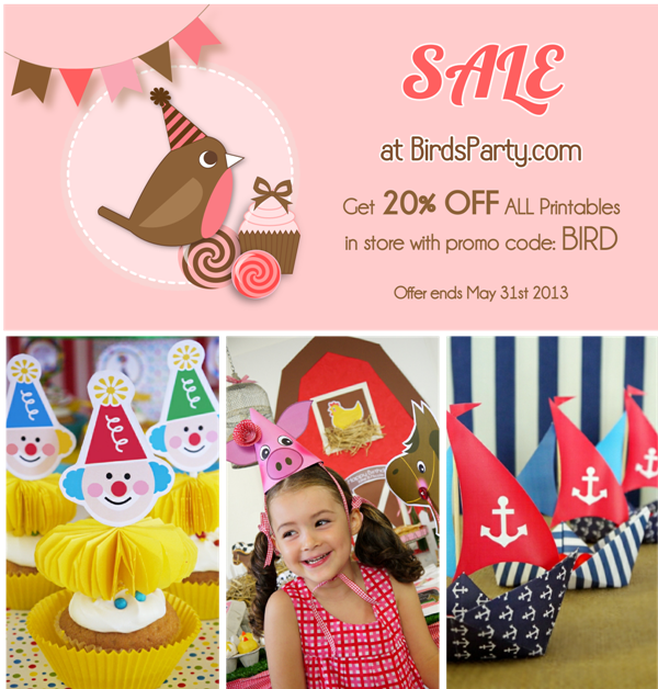 Party Shop Sale | 20% OFF Party Printables Kits - BirdsParty.com