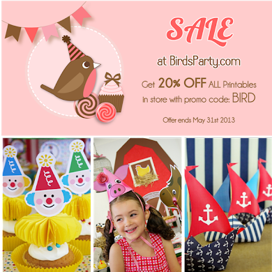 Party Shop Sale | 20% OFF Party Printables Kits