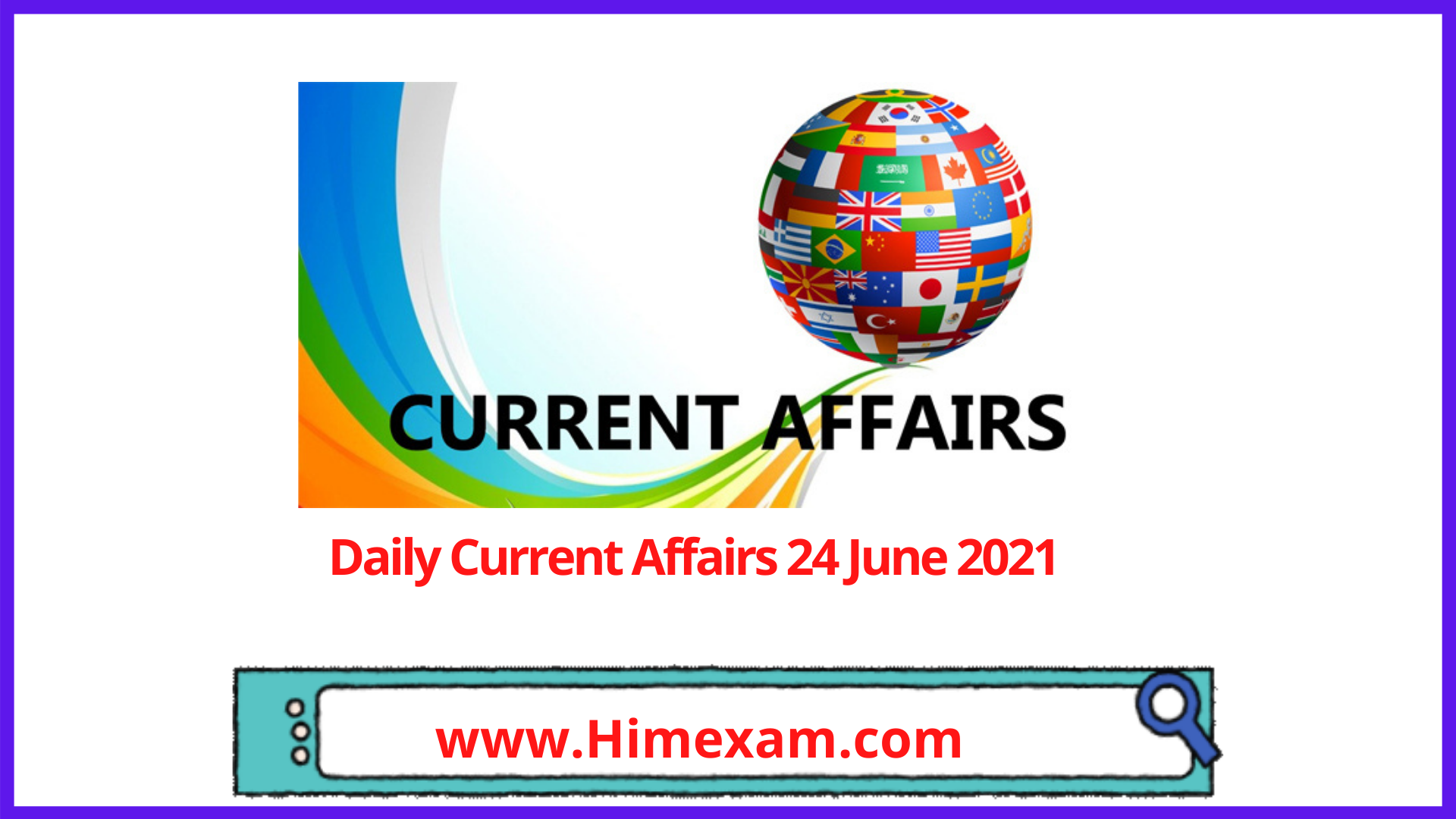 Daily Current Affairs 24 June 2021 In English