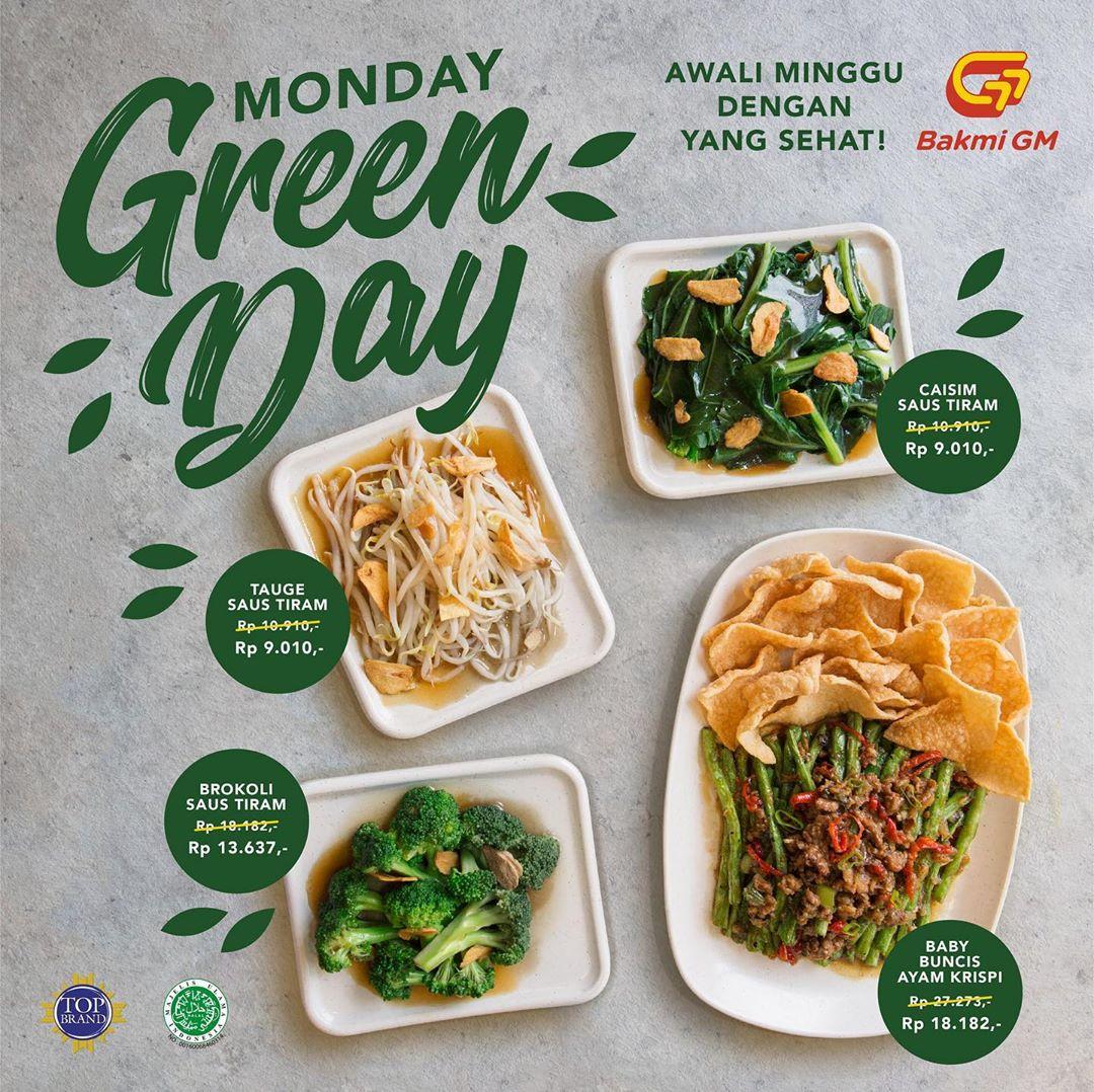 Bakmi GM Harga Spesial Monday Green Day Promo Menu Baru Sayuran