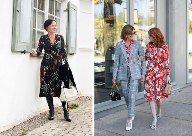 Зрелые женщины в платьях с цветочным принтом