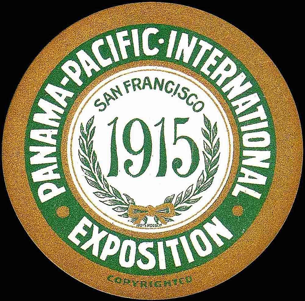 Panama-Pacific International Exposition San Francisco, a printed drink coaster 1915