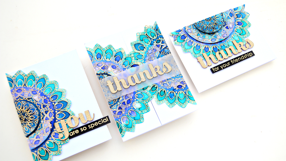 Birch Press Design Thankful Mandala | Altenew Watercolour Brush Markers | Erum Tasneem | @pr0digy0
