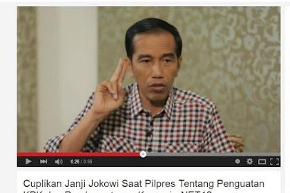 #MenolakLupa, Video Janji Jokowi Perkuat KPK: Tambah Anggaran 10x Lipat, Tambah 1.000 Penyidik