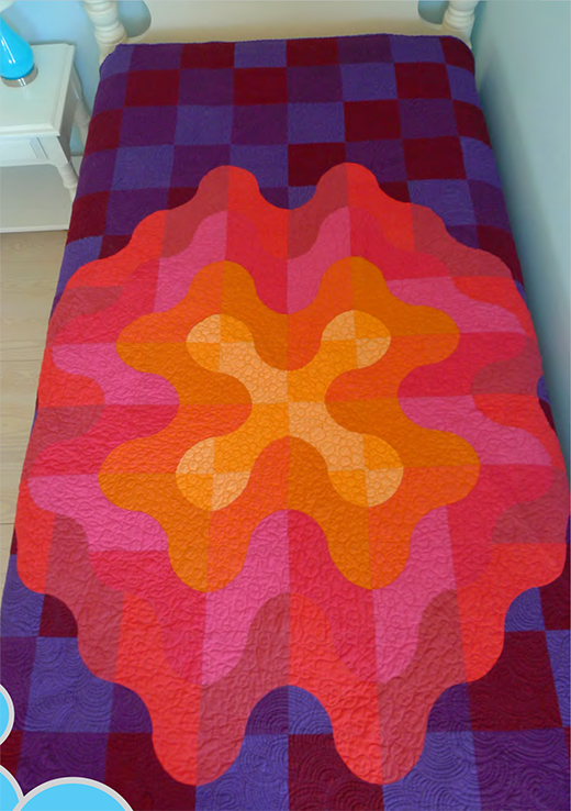 January Pop Quilt designed by Christine Stainbrook of Connecting Threads