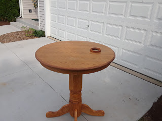 Pic of table dropped of at the customers house.