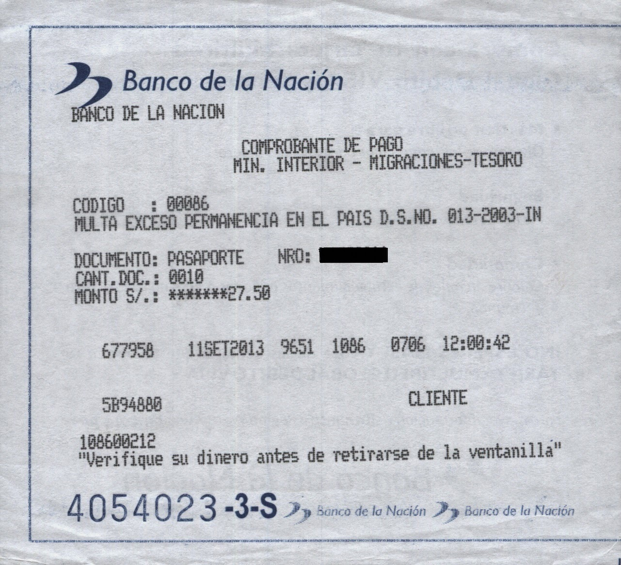 SOAT - Seguro obrigatório. Peru.]