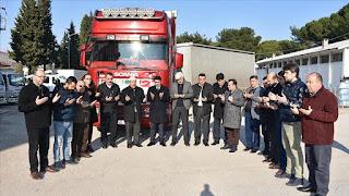 جمعيات ومنظمات تركية ترسل 6 شاحنات محملة بالمساعدات إلى إدلب