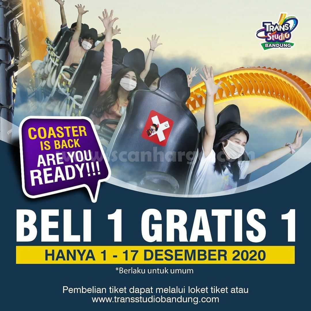 Trans Studio Bandung Promo Coaster Beli 1 Gratis 1