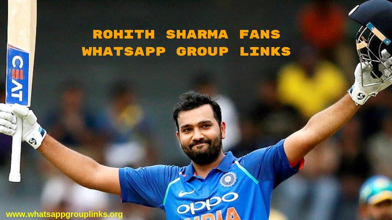 Join Rohit Sharma Fans Whatsapp Group Links List - Whatsapp