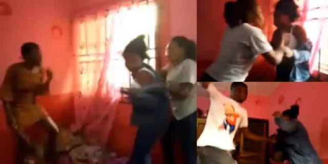 FUTA 300 Level Students gang, beat up 100 level Female Student for Running her mouth.