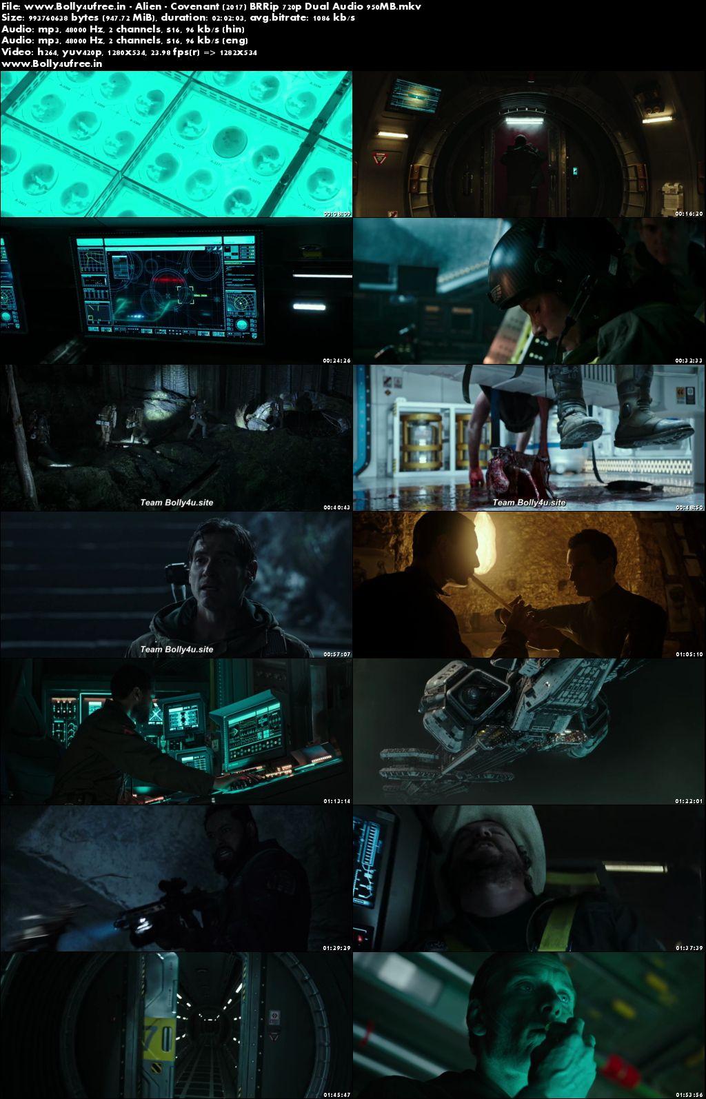 Alien Covenant 2017 Hindi Dual Audio BRRip 400MB 480p ORG