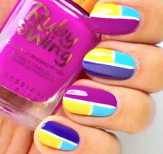 Spring Color Block Nails