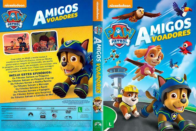 Capa DVD Paw Patrol Amigos Voadores