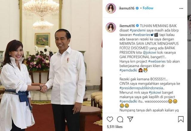 Usai Ketahuan Fitnah Pemprov DKI, Ike Muti Langsung Tutup Kolom Komentar Instagram