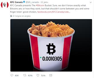 KFC Canada accept bitcoin