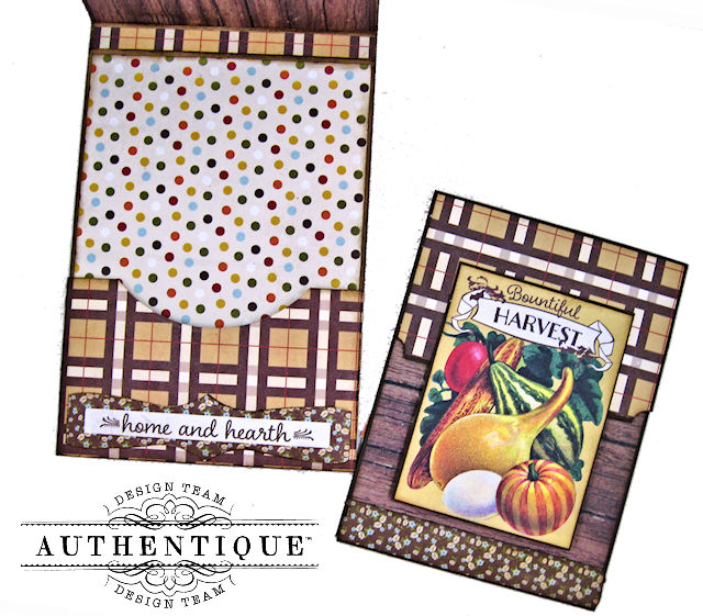 Authentique Pleasant Fall Card Folio by Kathy Clement Photo 05