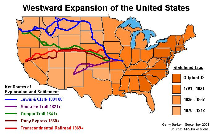 Was Manifest Destiny Justified Lessons Tes Teach - Map-of-us-during-westward-expansion