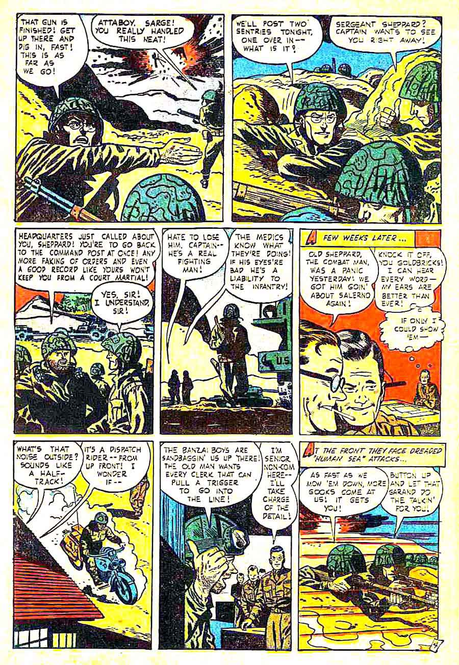 This is War v1 #5 standard comic book page art by Alex Toth