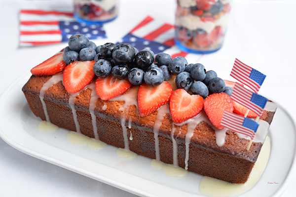 Marzipan cake fourth of July
