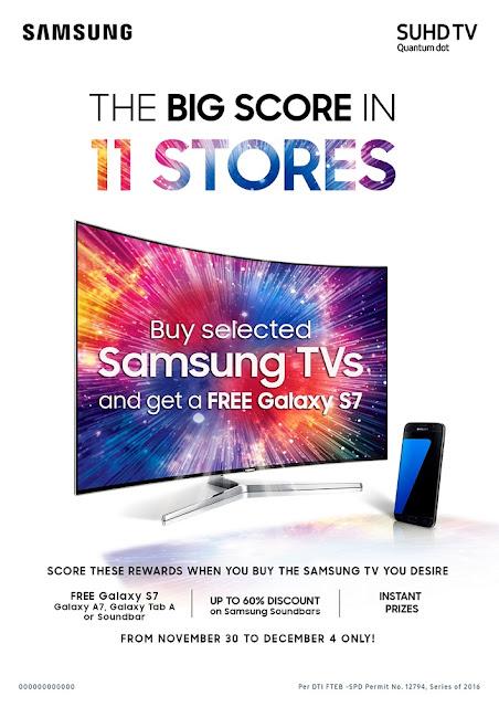 Samsung's Big Score in 11 Stores promo