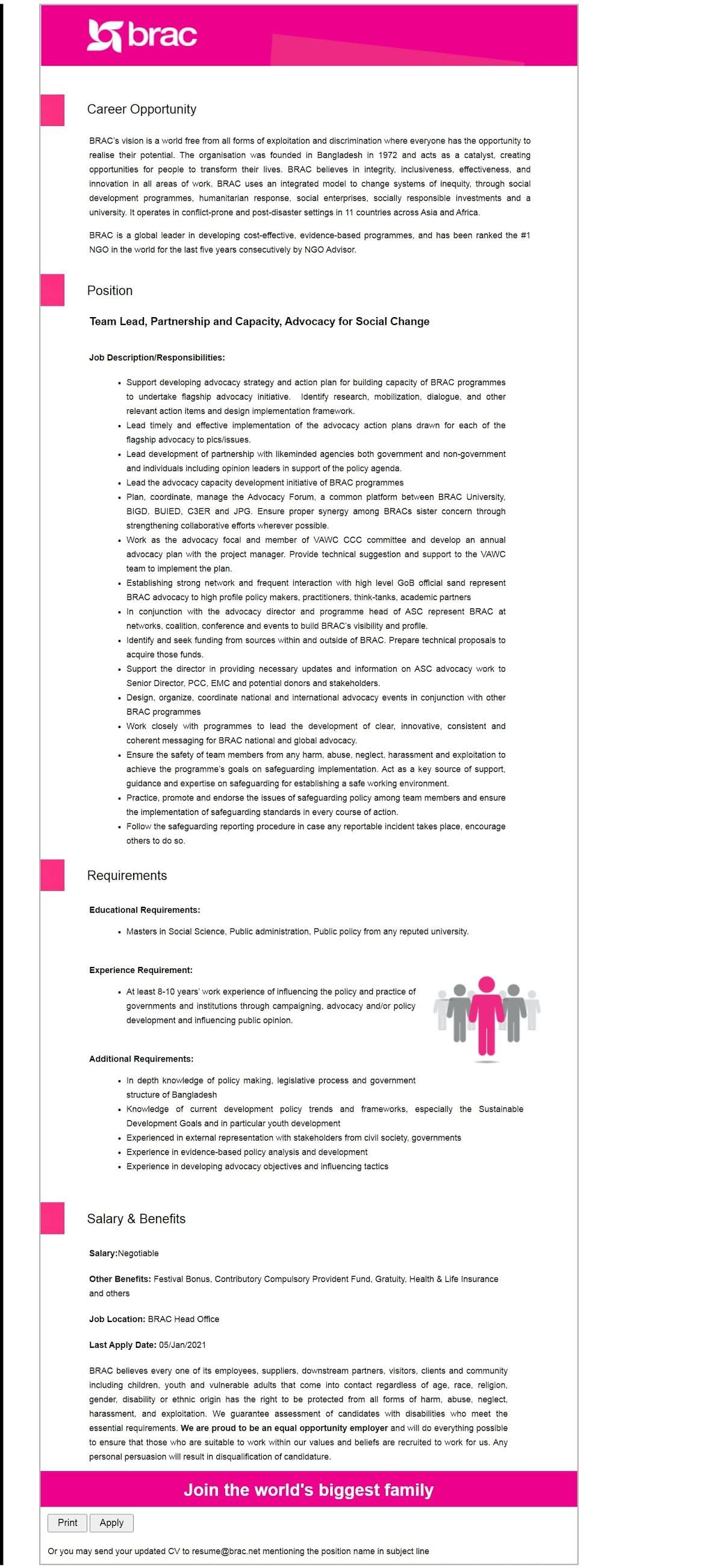 NGO-BRAC-job-circular
