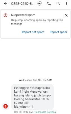 sms penipuan lelang