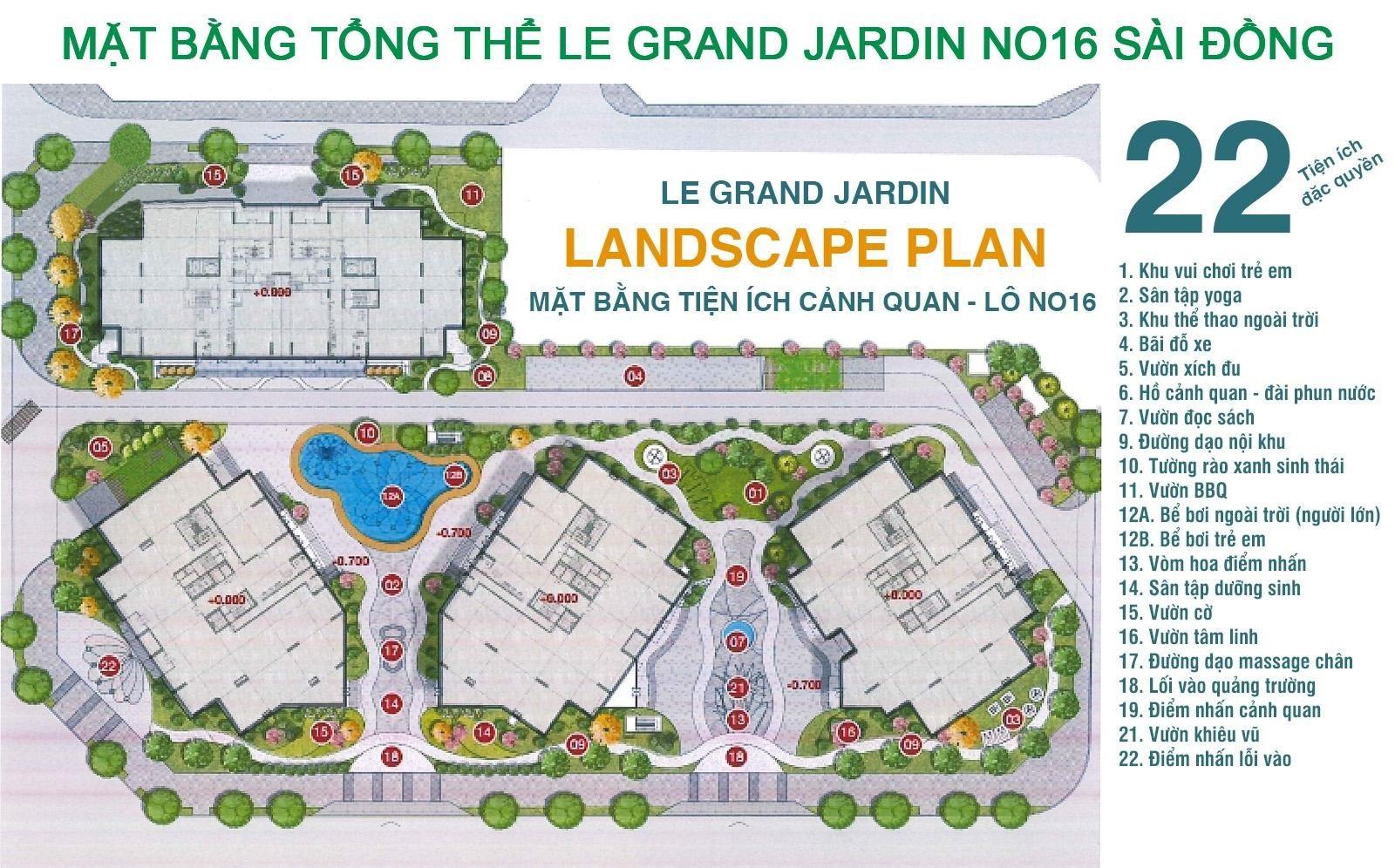 Tiện ích Le Grand Jardin.