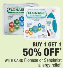 Flonase or Sensimist allergy relief cvs deal