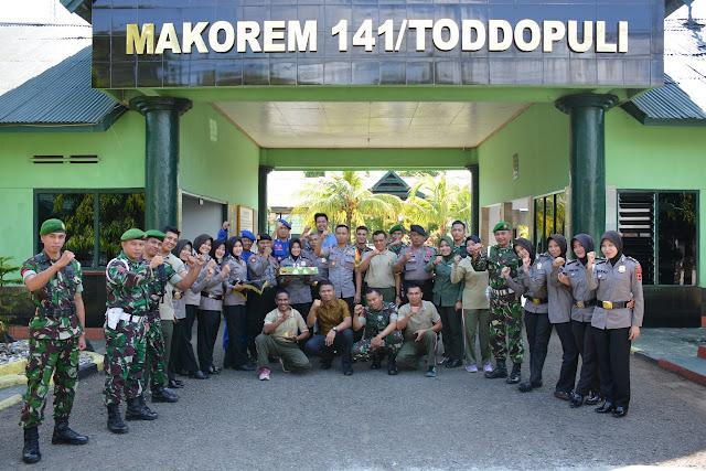 Luar Biasa Kebersamaan dan Sinergitas TNI Polri di Bone. Ini Buktinya