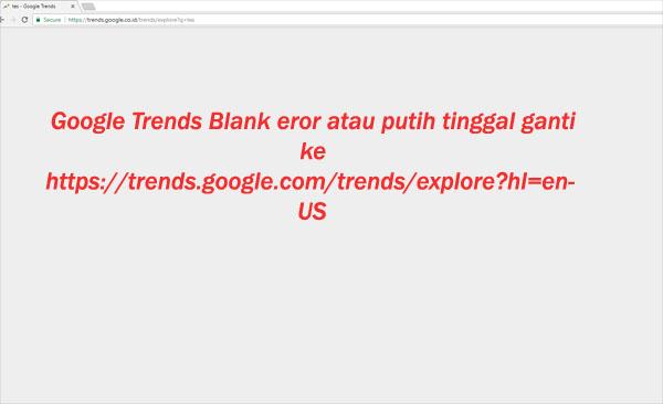 Google trends eror blank