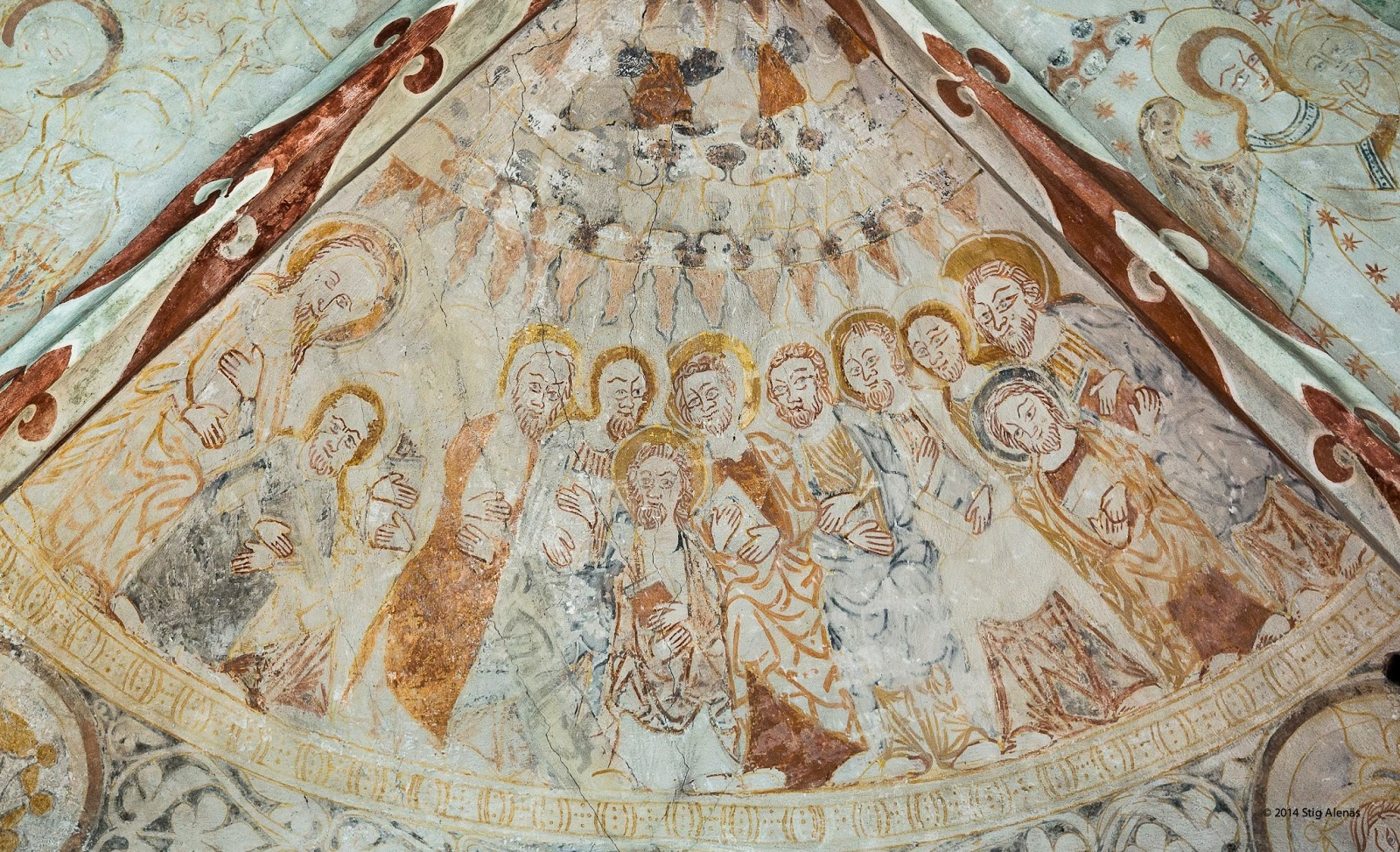 church, pentecost, architecture, mural, interior, fire, christ, tongues, christian, fresco, holy, art, descent, spirit, saint, jesus, apostle, christianity, editorial, sweden, fjelie, wall-painting, https://www.shutterstock.com/image-photo/descent-holy-spirit-upon-apostles-gothic-538582723