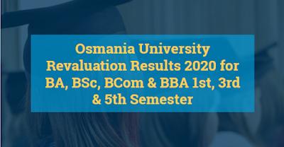Osmania University Revaluation Results 2020