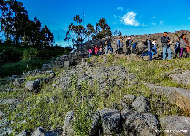 Centro cerimonial de Q'enqo, nos arredores de Cusco