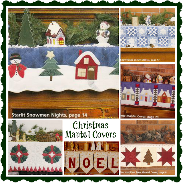 Christmas Mantel Covers quilting patterns book