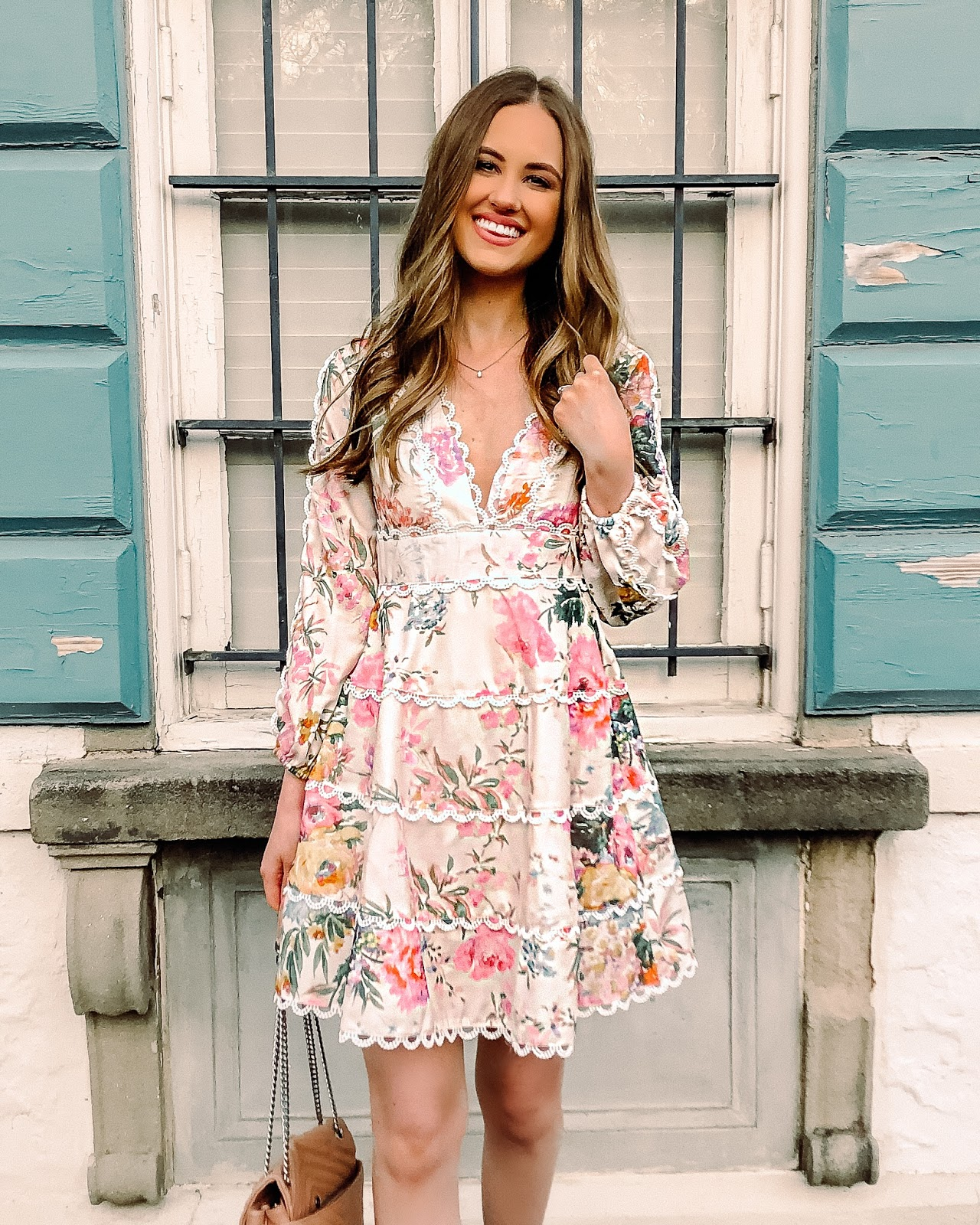 chicwish spring floral dress
