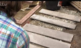 David laying pavers