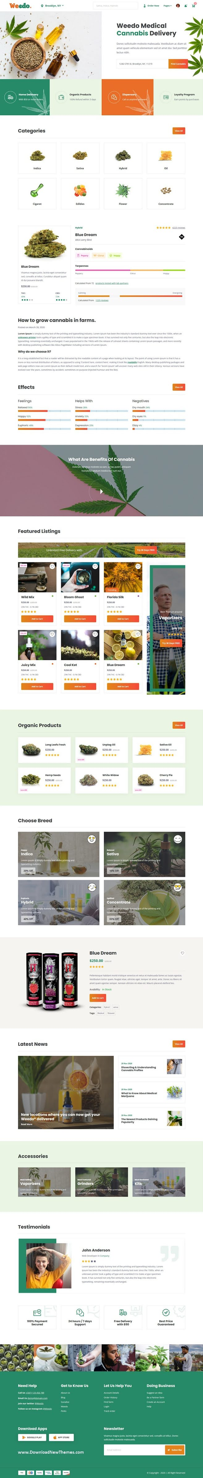 Marijuana and Cannabis Website Template