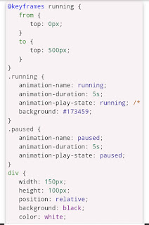 CSS3 Animation Play State