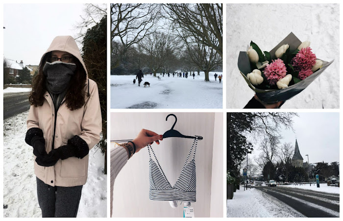 A lifestyle roundup of my week at university featuring all I've bought, watched, eaten, seen and been up to. Featuring Southampton in the snow, bikini shopping and a free bouquet of flowers