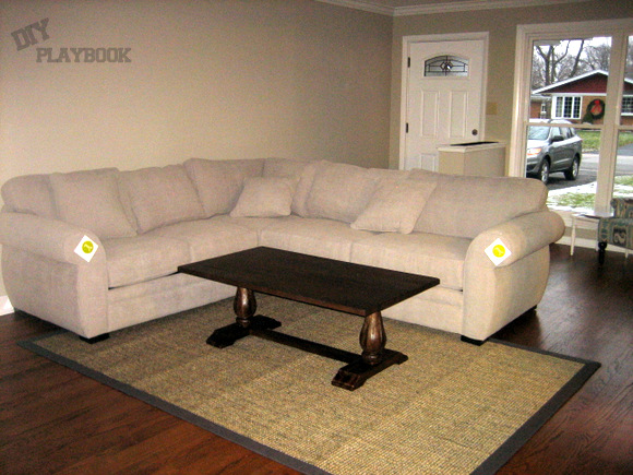 Macy's sectional at home