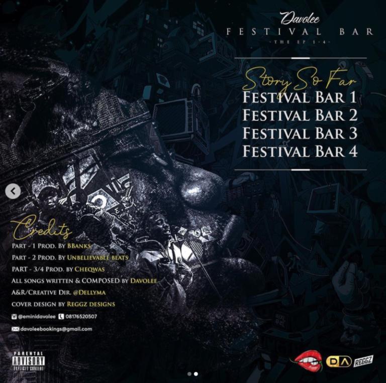 "[EP] Davolee – ""Festival Bar"" The EP #Arewapublisize"