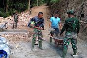 Beginilah, Semangat Tinggi Prajurit TNI Dari Batalion 726 Di Lokasi TMMD Ke-111