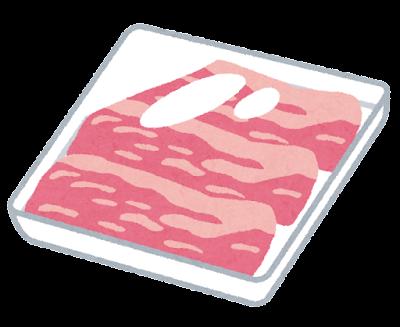 パックに入ったお肉のイラスト