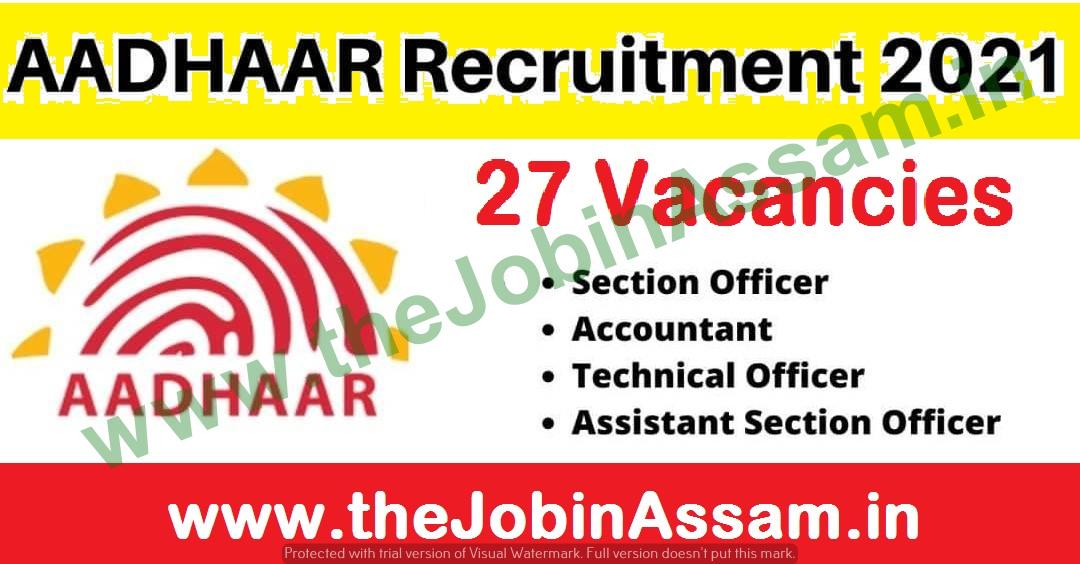 UIDAI Recruitment 2021: