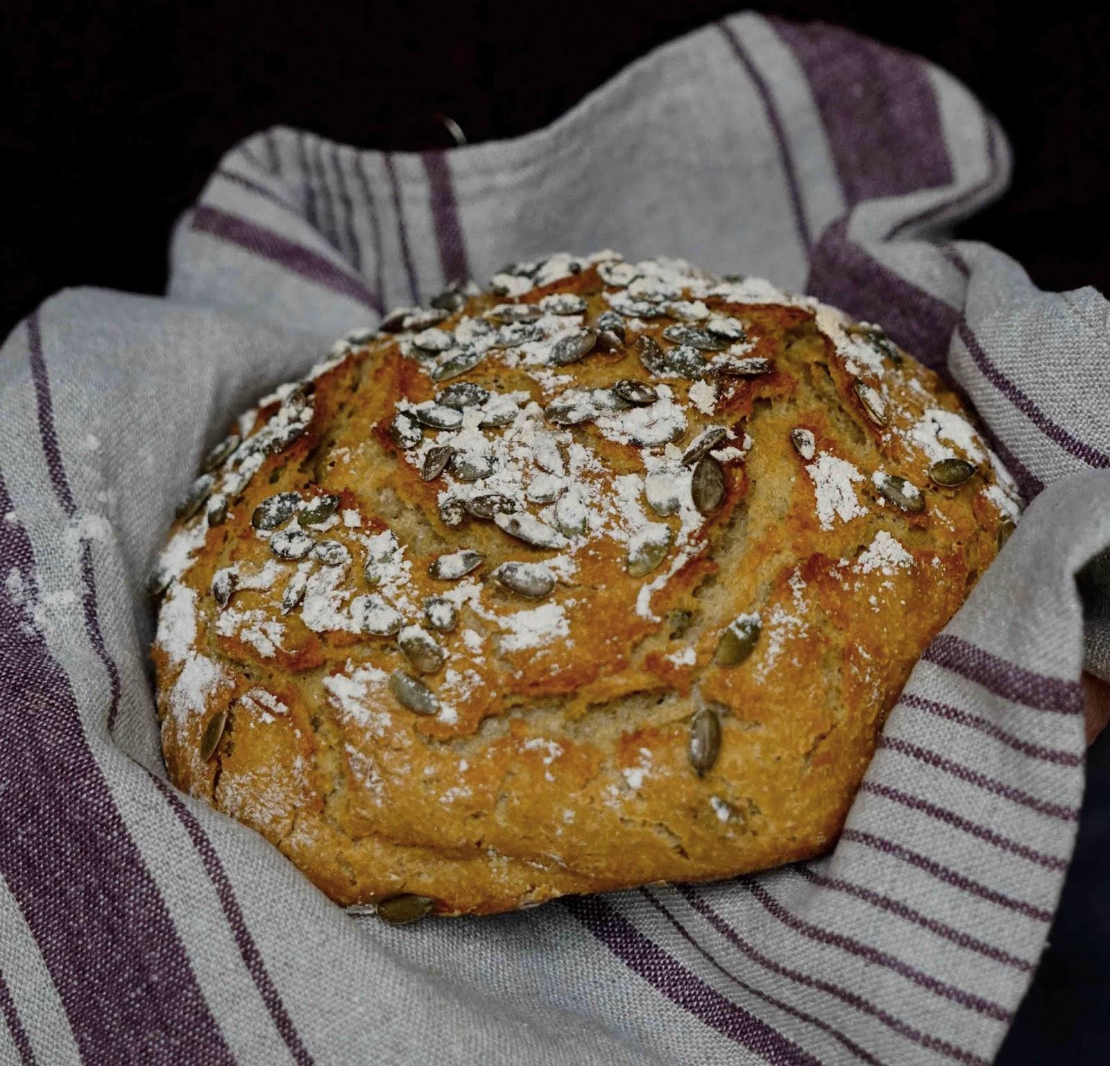 farine d'épeautre , pain à la bière , pain facile , sans robot