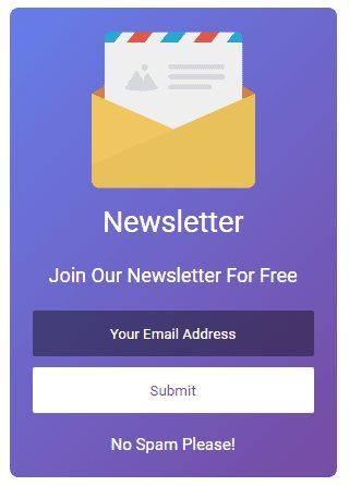 Email Subscription Widget