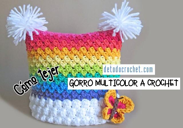 como-tejer-gorro-a-crochet