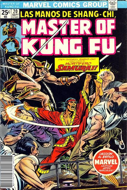 Portada de Master of Kung Fu Nº 20 traducido